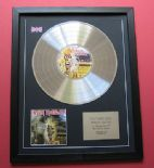 IRON MAIDEN - Iron Maiden CD / PLATINUM PRESENTATION DISC